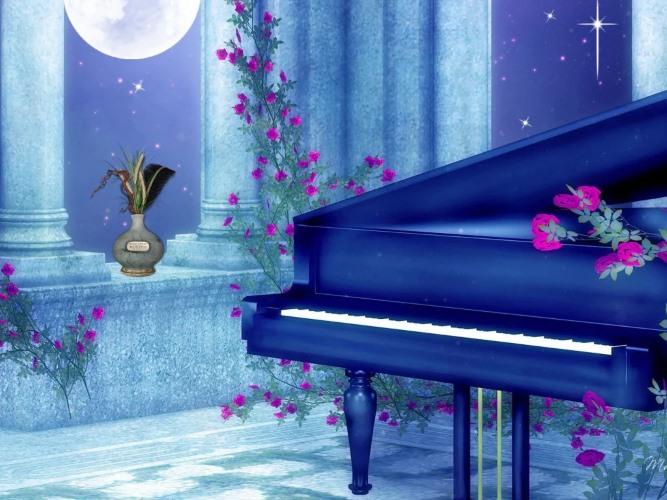 Луна, рояль