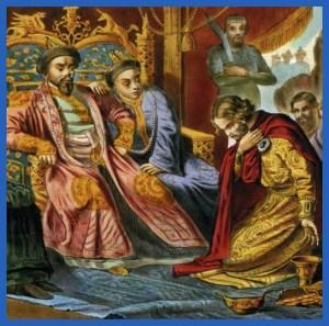 Князь на поклоне в Орде