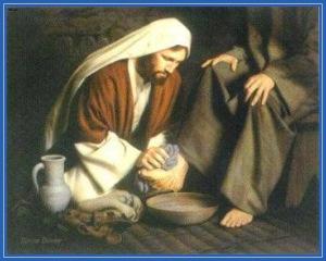 Омовение ног, смирение
