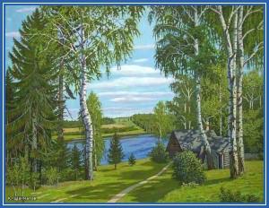 Россия - изба, река