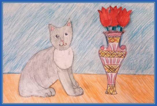Котенок и ваза
