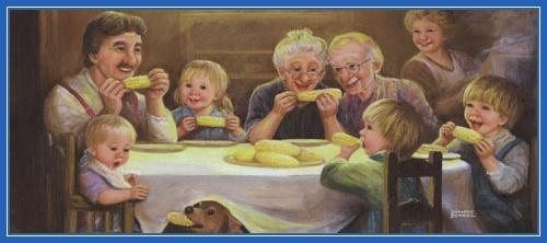 Семья, счастье, обед