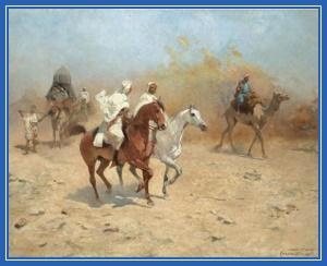 Верблюды, пустыня