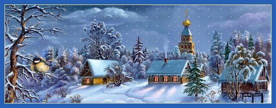Зима, храм, Новый год, Рождество