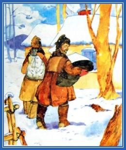Деревня, зима