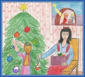 Рождественская елка - сочельник
