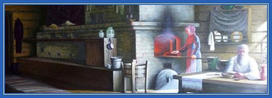 Изба, печка, дед