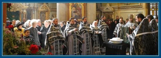 Освящении колива, кутьи, служба