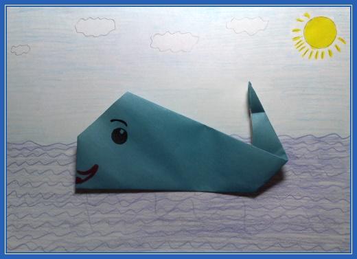 Поделка, кит, море