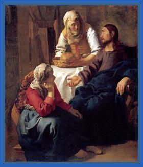 Беседа, Марфа и Мария, Христос
