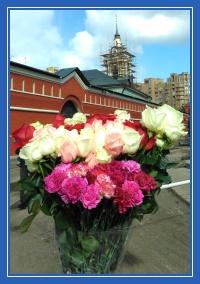 Цветы к мощам 19 апреля