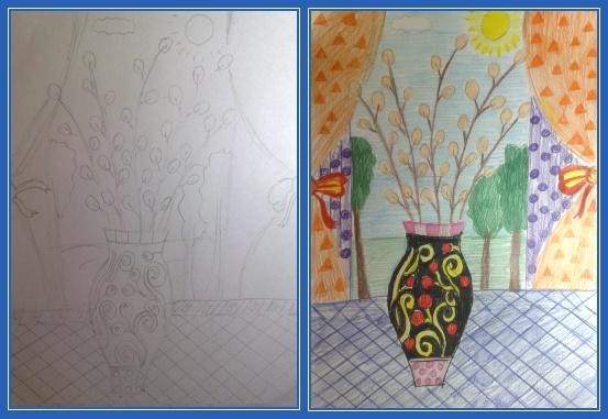 Верба - рисунки
