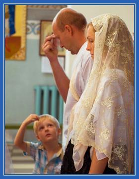 Молитва, осенение крестом