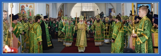 Патриарх Кирилл - служба