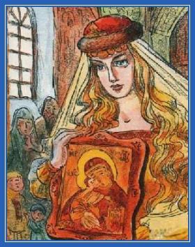Душа Царевна - с иконой