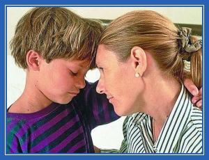 Мама и сын, воспитание
