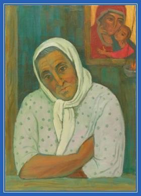 Мама, икона, старушка, бабушка