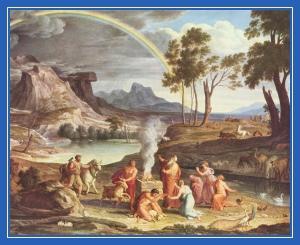 Ной, благодарение, выход из ковчега