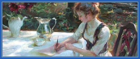 Поэтесса, перо, письмо