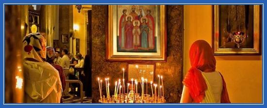 Молитва, храм, Икона, Царственные мученики