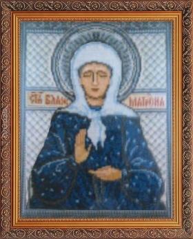Икона блаженной Матроны, вышивка