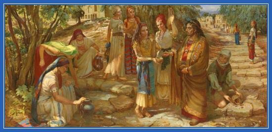 Елиазар у колдца. Ревекка