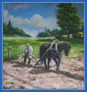 Пахарь, крестьянин, лошадь
