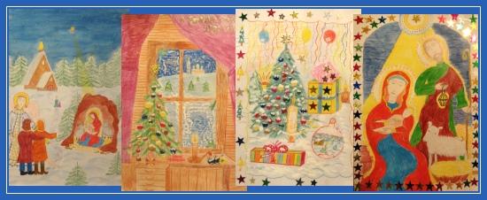 Рисунки Рождественские