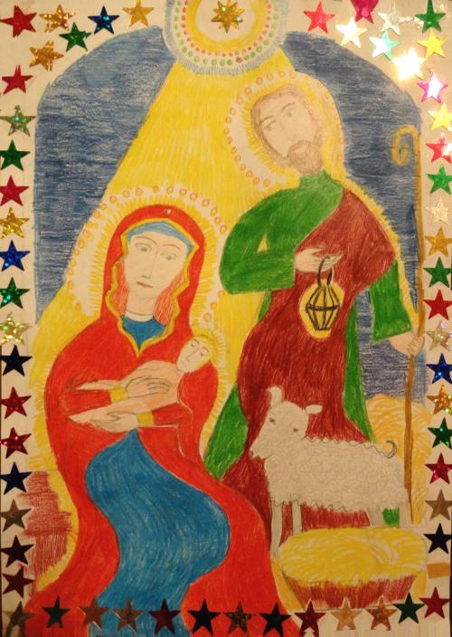 Рождество Христово. Рисунок Кати Романовой