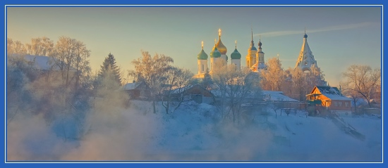 Зимний храм, пейзаж, Святочный рассказ, зима, Рождество