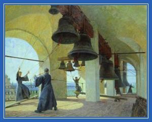 Колокола, звон колокольный, монахи, монастырь