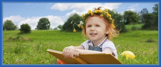 Ребенок, читает книгу, дети, девочка