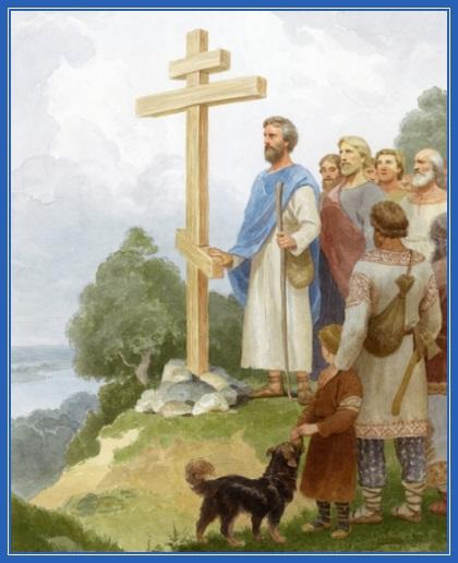 Святой апостол Андрей Первозванный на днепровских горах