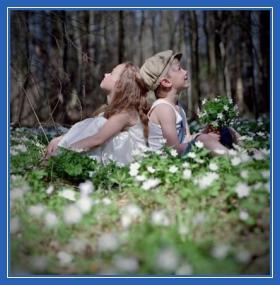 мальчик и девочка, дружба, лес, природа