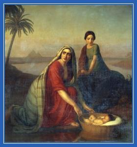 Корзина, Моисей, младенец