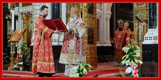 Патриарх Кирилл, Пасха, служба