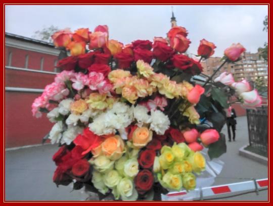 Цветы на Пасху святой Матроне