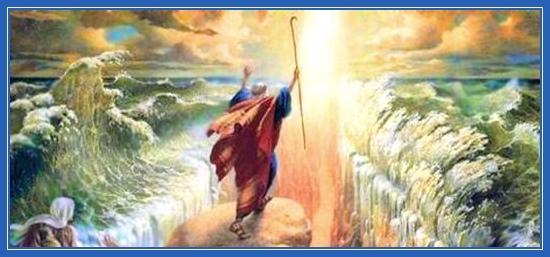 Переход Евреев через море, Моисей