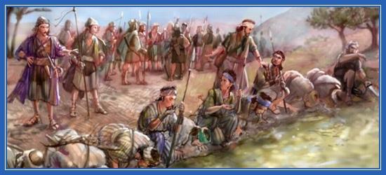 Судья Гедеон, воины пьют воду