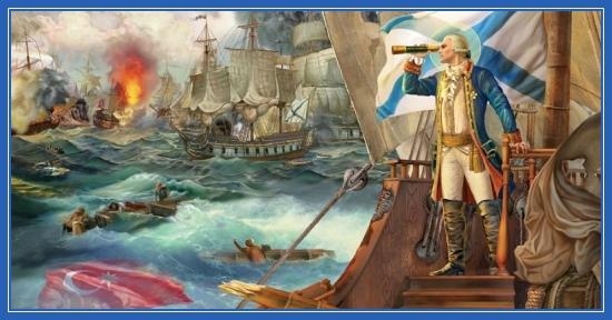 Адмирал Феодор Ушаков, святой, битва