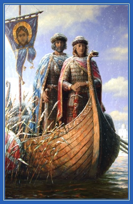 Благоверные князья Борис и Глеб, ладья