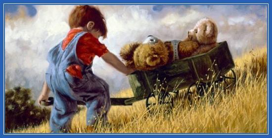 Детство, ребенок, плюшевый мишка, игра