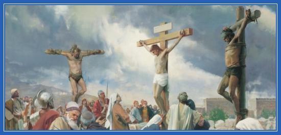 Распятие, Иисус Христос, Голгофа, разбойники,