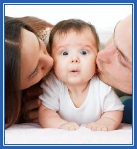 Ребенок, дитя, любовь, поцелуи