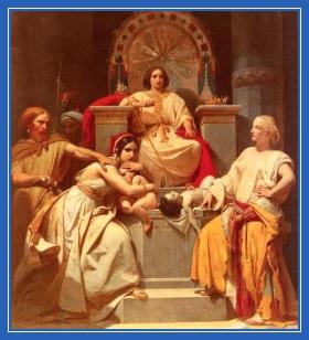 Суд Соломона, Царь, судит