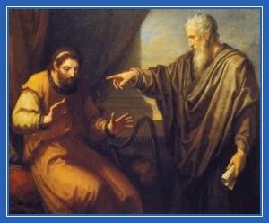 Царь Давид обличаемый, пророк Нафан