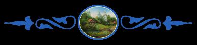 Заглавие, деревенский пейзаж с храмом