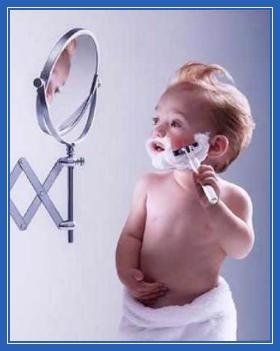 баловство, бритье, игра, бритва, ребенок
