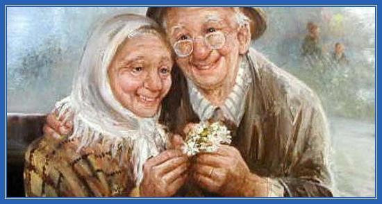 старики, бабушка и дедушка
