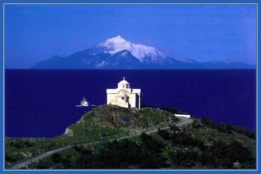 Гора Афон, море